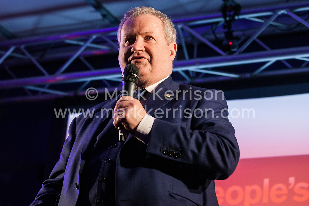 London, UK. 15th January, 2019. Ian Blackford, Leader of the SNP in the House of Commons, addresses pro-EU activists attending a People's Vote rally in Parliament Square as MPs vote in the House of Commons on Prime Minister Theresa May's proposed final Brexit withdrawal agreement.