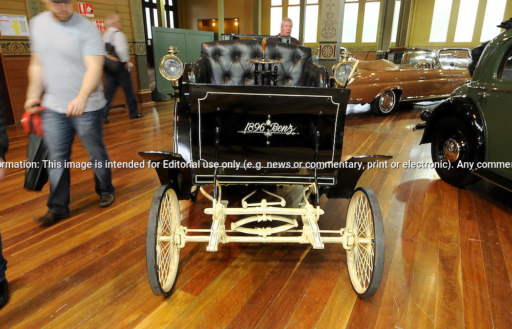 1896 Benz Velo.RACV Motorclassica.The Australian International Concours d'Elegance & Classic Motor Show.Royal Exhibition Building .Carlton, Melbourne, Victoria.October 22nd 2011.(C) Joel Strickland Photographics.Use information: This image is intended for Editorial use only (e.g. news or commentary, print or electronic). Any commercial or promotional use requires additional clearance.