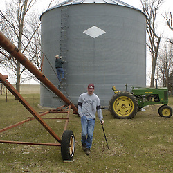 Despite being thrown from his truck 6 years ago during an accident, Ryan Odens, 29, of Little Rock, Iowa is following his dream of being a farmer. He was told his shattered spine would never heal enough to let him walk again, but to Odens there was never any question about what he was going to do afterwards. ?If my brother has to throw me over his shoulder, throw me in the tractor, I?m going to farm,? he said. He and his brother Nick, who manage 1,200 acres of corn and soybeans, are fourth generation family farmers..
