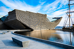 View of newly completed V&A Museum of Design in Dundee, Tayside, Scotland.