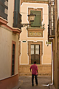Sevilla Spain narrow streets of old town photo Piotr Gesicki