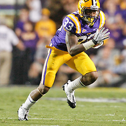 September 10, 2011; Baton Rouge, LA, USA;  LSU Tigers wide receiver Odell Beckham (33) during a game against the Northwestern State Demons at Tiger Stadium.  Mandatory Credit: Derick E. Hingle-US PRESSWIRE