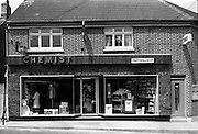 12/06/1967<br /> 06/12/1967<br /> 12 June 1967<br /> Interior and exterior of Freynes and Co. Ltd. Chemist, Clondalkin Dublin. Exterior view.