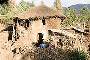 Africa, Ethiopia, Lalibela, Mud hut