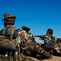HSSU 20150409 TNLA kapinallisryhmä Shanin osavaltiossa, Myanmar. Tulitaistelu TNLA sotilaiden ja Burman armeijan välillä. Kuva: Benjamin Suomela