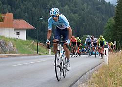 12.07.2019, Kitzbühel, AUT, Ö-Tour, Österreich Radrundfahrt, 6. Etappe, von Kitzbühel nach Kitzbüheler Horn (116,7 km), im Bild Delio Fernandez Cruz (ESP, Delko Marseille Provence) // Delio Fernandez Cruz of Spain (Delko Marseille Provence) during 6th stage from Kitzbühel to Kitzbüheler Horn (116,7 km) of the 2019 Tour of Austria. Kitzbühel, Austria on 2019/07/12. EXPA Pictures © 2019, PhotoCredit: EXPA/ Reinhard Eisenbauer