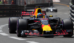 May 27, 2017 - Monte-Carlo, Monaco - Daniel Ricciardo of Australia and Red Bull Racing driver goes during the qualification on Formula 1 Grand Prix de Monaco on May 27, 2017 in Monte Carlo, Monaco. (Credit Image: © Robert Szaniszlo/NurPhoto via ZUMA Press)