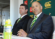 CAPE TOWN, SOUTH AFRICA - Thursday 25 April 2013, Mr Pat Kuhn, SARU executive committee member,  during the official team announcement at SARU House, of the Springbok u/20 rugby team to represent South Africa in the IRB Junior World Championship (JWC) in France during the month of June. .Photo by Roger Sedres/ImageSA