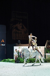 Team FRA, Watriano R, Fabrice Holzberger - Squad Final Vaulting - Alltech FEI World Equestrian Games™ 2014 - Normandy, France.<br /> © Hippo Foto Team - Jon Stroud<br /> 05/09/2014