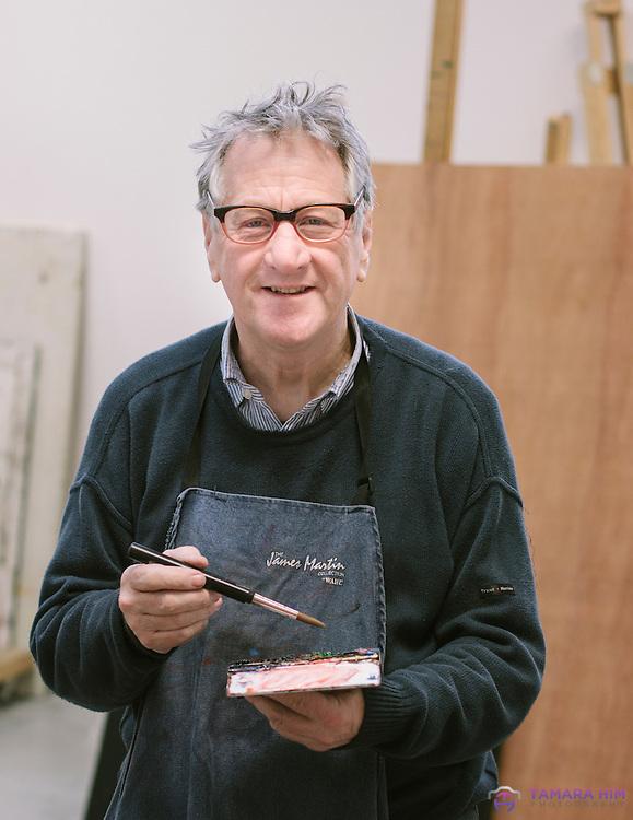 A portrait of the Irish artist David Hayes.  RHA gallery. Dublin. ©Tamara Him.