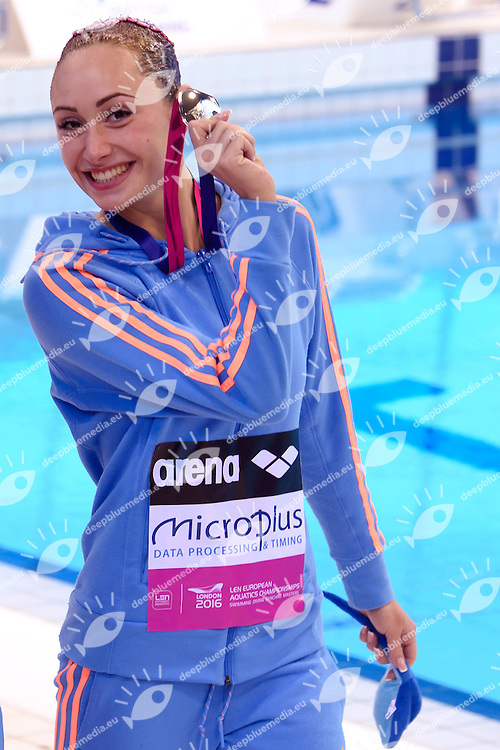ANANASOVA Lolita UKR Ukraine Silver Medal <br /> Duet Technical Final <br /> London, Queen Elizabeth II Olympic Park Pool <br /> LEN 2016 European Aquatics Elite Championships <br /> Synchronized Swimming <br /> Day 05 13-05-2016<br /> Photo Andrea Staccioli/Deepbluemedia/Insidefoto
