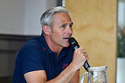 Somerset Director of Cricket Andy Hurry during the press conference during the 2019 media day at Somerset County Cricket Club at the Cooper Associates County Ground, Taunton, United Kingdom on 2 April 2019.