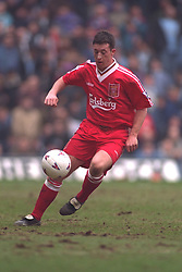 COVENTRY, ENGLAND - Saturday, April 6, 1996: Liverpool's Robbie Fowler in action against Coventry City during the Premiership match at Highfield Road. Coventry won 1-0. (Pic by David Rawcliffe/Propaganda)