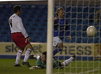 Photo: Matt Bright/Sportsbeat Images.<br /> Millwall v AFC Bournemouth. The FA Cup. 01/12/2007.<br /> Ahmet Brkovic of Millwall Scores