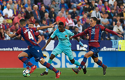 May 13, 2018 - Valencia, Valencia, Spain - Rober Pier of Levante UD and Ousmane Dembele of FC Barcelona during the La Liga match between Levante and FC Barcelona, at Ciutat de Valencia Stadium, on may 13, 2018  (Credit Image: © Maria Jose Segovia/NurPhoto via ZUMA Press)