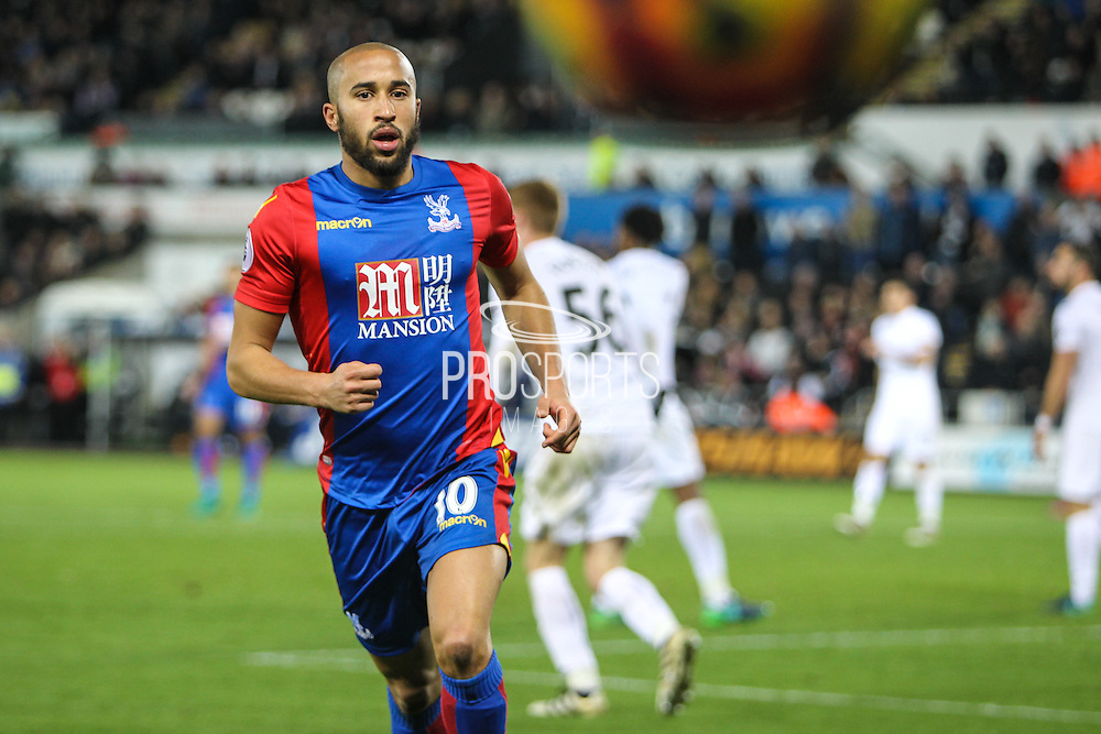 Andros Townsend of Crystal Palace during the Premier League match between Swansea City and Crystal Palace at the Liberty Stadium, Swansea, Wales on 26 November 2016. Photo by Andrew Lewis.