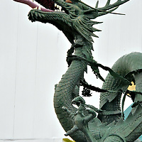 Dragon Statue at Yongdusan Park in Busan, South Korea<br />