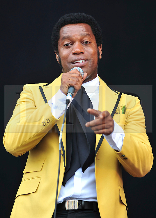 © licensed to London News Pictures. LONDON UK  03/07/11.Vintage Trouble perform at Day 3 of the Wireless Festival in Hyde Park London saw thousands of music fans enjoying the sunshine and the music . Please see special instructions for usage rates. Photo credit should read ALAN ROXBOROUGH/LNP