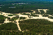 Nederland, Gelderland, Veluwe, 29-05-2019; militair oefenterrein ten noorden van Stroe, militaire gebouwen in het bos.<br /> Military training ground.<br /> luchtfoto (toeslag op standard tarieven);<br /> aerial photo (additional fee required);<br /> copyright foto/photo Siebe Swart
