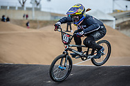 #140 (RIDENOUR Payton) USA at Round 3 of the 2020 UCI BMX Supercross World Cup in Bathurst, Australia.