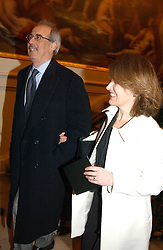 VERONICA WADLEY and her husband TOM BOWER at a reception to celebrate the opening of Turks:A Journey of a Thousand Years, 600-1600 - an exhibition of Turkish art held at the Royal Academy of Arts, Piccadilly, London on 18th February 2005.<br /><br />NON EXCLUSIVE - WORLD RIGHTS