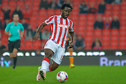 Stoke City striker Wilfied Bony during the EFL Cup match between Stoke City and Hull City at the Britannia Stadium, Stoke-on-Trent, England on 21 September 2016. Photo by John Marfleet.
