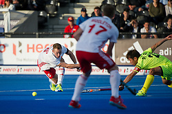 England's David Ames. England v China - Hockey World League Semi Final, Lee Valley Hockey and Tennis Centre, London, United Kingdom on 15 June 2017. Photo: Simon Parker