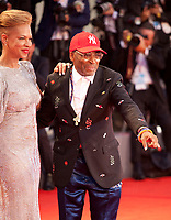 Director Spike Lee and producer Tonya Lewis Lee at the premiere gala screening of the film A Star is Born at the 75th Venice Film Festival, Sala Grande on Friday 31st August 2018, Venice Lido, Italy.
