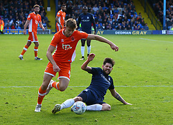 September 30, 2017 - Southend, England, United Kingdom - Anthony Wordsworth of Southend United tackles Blackpool's Will Aimson.during Sky Bet League one match between Southend United against Blackpool at  Roots Hall,  Southend on Sea England on 30 Sept  2017  (Credit Image: © Kieran Galvin/NurPhoto via ZUMA Press)
