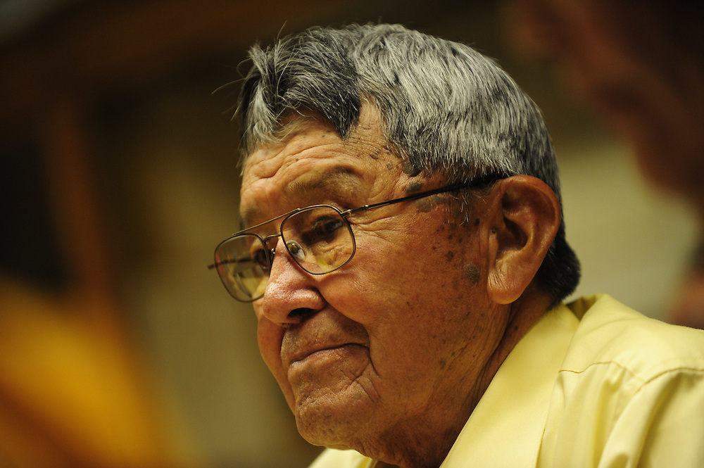 Navajo Code Talker Frank Chee Willetto at annual meeting in Gallup, New Mexico