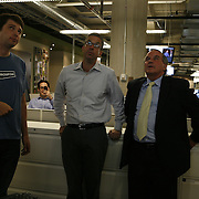Mayor Richard Daley, right, gets a tour of Groupon's headquarters by founder and CEO Andrew Mason, left, Tuesday August 31, 2010. Groupon's headquarters are in the former Montgomery Wards' catalog warehouse.  Jose More Photography..