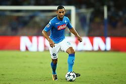 August 16, 2017 - Naples, Italy - Faouzi Ghoulam of Napoli at San Paolo Stadium in Naples, Italy on August 16, 2017 during the UEFA Champions League Qualifying Play-Offs Round First Leg match between SSC Napoli and OGC Nice. (Credit Image: © Matteo Ciambelli/NurPhoto via ZUMA Press)
