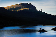Hebrides Islands, Skye island, Trotternish  Peninsula. The Old Man of Storr rocks formations.
