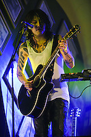 Miyavi performing at Hard Rock Cafe, Kuta, Bali, Indonesia, 12/10/2012.