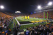 October 10, 2009: Iowa takes the field before their 30-28 win over the Michigan Wolverine's at Kinnick Stadium in Iowa City, Iowa on October 10, 2009.