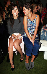 Daisy Lowe and Pixie Geldof at the Unique show by Topshop at London Fashion Week Spring/Summer 2014,  Sunday, 15th September 2013. Picture by Stephen Lock / i-Images