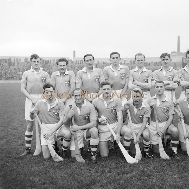 Dublin team before the National Hurling League, Cork v Dublin in Croke park on the 15th November 1953.