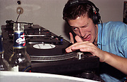 DJ at 93 Feet East, Brick Lane, London 2002