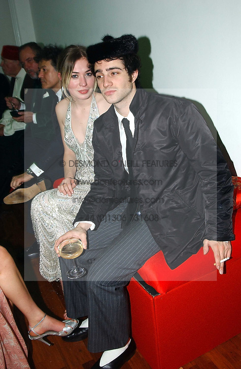 MR JORDAN GALLAND and MISS ANOUSKA GERHAUSER daughter of Tamara Beckwith  at Andy & Patti Wong's Chinese New Year party to celebrate the year of the Rooster held at the Great Eastern Hotel, Liverpool Street, London on 29th January 2005.  Guests were invited to dress in 1920's Shanghai fashion.<br /><br />NON EXCLUSIVE - WORLD RIGHTS