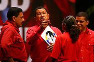 Venezuelan president, Hugo Chavez in Caracas, Nov. 21, 2006. (ivan gonzalez)