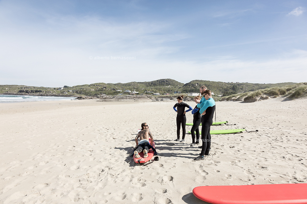Hellesto strand , the very first time for a surf lesson