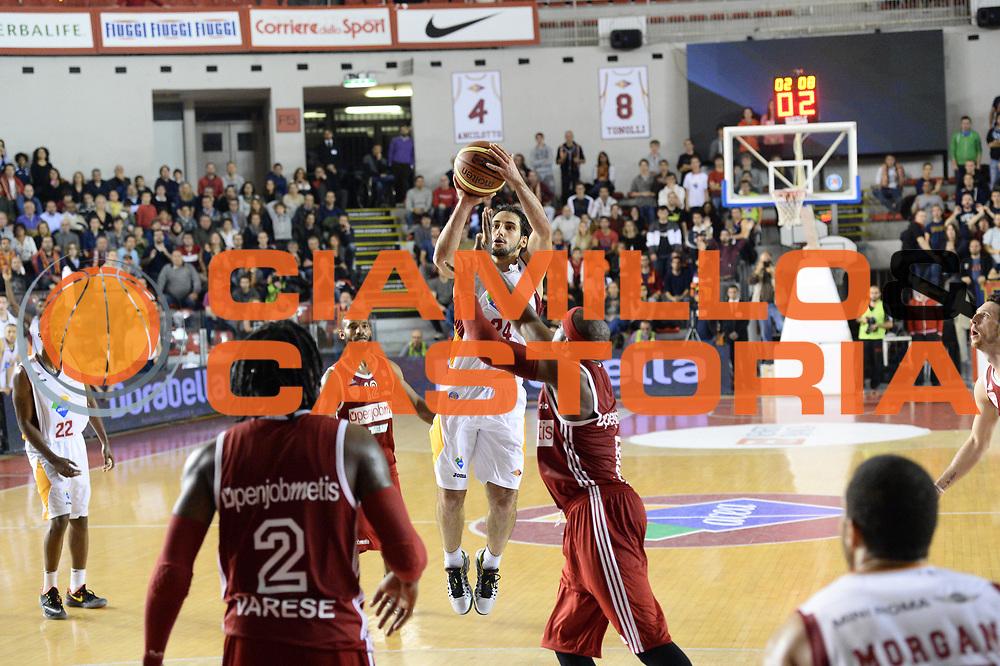 DESCRIZIONE : Roma Lega A 2014-15 Acea Virtus Roma Pallacanestro Varese<br /> GIOCATORE : rok stipcevic<br /> CATEGORIA : tiro tre punti<br /> SQUADRA : Acea Virtus Roma Pallacanestro Varese<br /> EVENTO : Campionato Lega Serie A 2014-2015<br /> GARA : Acea Virtus Roma Pallacanestro Varese<br /> DATA : 16.11.2014<br /> SPORT : Pallacanestro <br /> AUTORE : Agenzia Ciamillo-Castoria/M.Greco<br /> Galleria : Lega Basket A 2014-2015 <br /> Fotonotizia : Roma Lega A 2014-15 Acea Virtus Roma Pallacanestro Varese