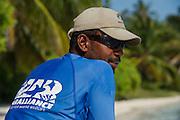 Nurse Shark (Ginglymostoma cirratum) & MAR Alliance Staff <br /> MAR Alliance<br /> Halfmoon Caye<br /> Lighthouse Reef Atoll<br /> Belize<br /> Central America