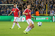 Ander Herrera of Manchester United on the ball during the Champions League Qualifying Play-Off Round match between Club Brugge and Manchester United at the Jan Breydel Stadion, Brugge, Belguim on 26 August 2015. Photo by Phil Duncan.