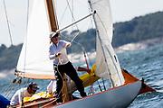 Ruweida V sailing in the Newport Classic Yacht Regatta.