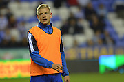 Reading's Matej Vydra warms up before the Sky Bet Championship match between Reading and Ipswich Town at the Madejski Stadium, Reading, England on 11 September 2015. Photo by Mark Davies.