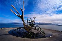Iceland. The Sun Voyager (Icelandic: Sólfar) is a sculpture in Reykjavík.