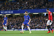 Chelsea's Cesc Fabregas during the Premier League match between Chelsea and Manchester United at Stamford Bridge, London, England on 5 November 2017. Photo by Phil Duncan.