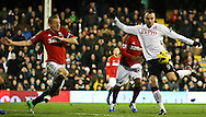 Picture by David Horn/Focus Images Ltd +44 7545 970036.29/12/2012.Dimitar Berbatov of Fulham shoots during the Barclays Premier League match at Craven Cottage, London.