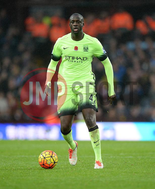 Yaya Toure of Manchester City - Mandatory byline: Alex James/JMP - 07966 386802 - 08/11/2015 - FOOTBALL - Villa Park - Birmingham, England - Aston Villa v Manchester City - Barclays Premier League